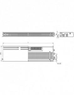 Напольный конвектор FCN, 150x120x1000 мм